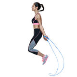 Woman fitness exercises isolated Royalty Free Stock Photography