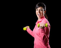 Fitness woman training Royalty Free Stock Images