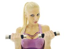 Woman fitness isolated Stock Photography