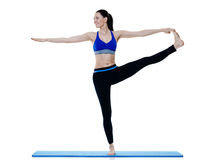 Woman fitness pilates exercices isolated Stock Photography