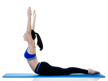 Woman fitness pilates exercices isolated Stock Image