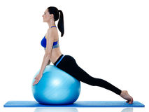 Woman fitness pilates exercices  Royalty Free Stock Images