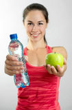 Woman in fitness Royalty Free Stock Photos