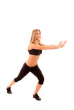 Woman  in the fitness  pose Stock Photography