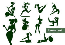 Woman fitness set Royalty Free Stock Photo