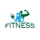 Woman of fitness silhouette character vector design temp Royalty Free Stock Image