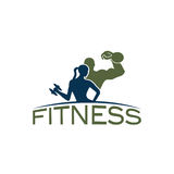 Woman of fitness silhouette character vector design temp Stock Photos