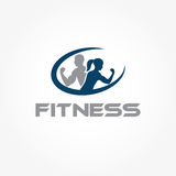 Woman of fitness silhouette character vector design temp Stock Photography