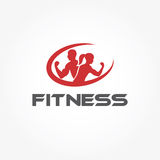 Woman of fitness silhouette character vector design temp Stock Images