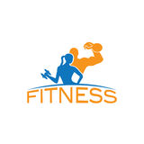 Woman of fitness silhouette character vector design temp Royalty Free Stock Images