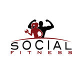 Woman of fitness silhouette character vector design temp Stock Image