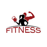 Woman of fitness silhouette character vector design temp Royalty Free Stock Photos