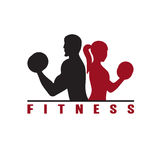 woman of fitness silhouette character vector illustratio Stock Images