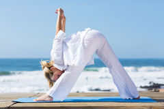 Woman fitness stretching Royalty Free Stock Photo
