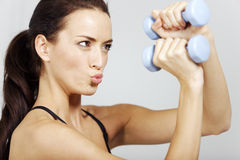 Woman in fitness Royalty Free Stock Images