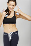 Woman in fitness Stock Photo