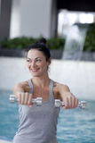 Woman on fitness training Stock Images
