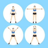 Woman Fitness Vector. And Illustration Royalty Free Stock Photo