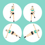 Woman Fitness Vector. And Illustration Royalty Free Stock Images