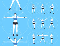 Woman Fitness Vector Stock Images