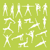 Woman Fitness Vector. And Illustration Stock Photos
