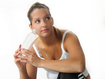 Woman Fitness Water Royalty Free Stock Photo