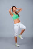 Woman in fitness wear Royalty Free Stock Image