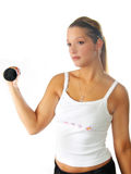 Woman Fitness Weights Stock Image