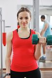 Woman fitness workout with weights Stock Photography