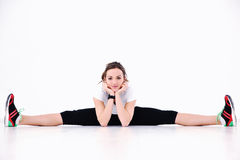 Woman Fitness Workout With Weights Royalty Free Stock Photography