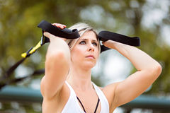 Woman fitness Stock Image