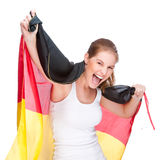 Woman with flag Royalty Free Stock Photography