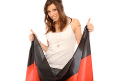 Woman with flag Stock Photos
