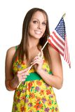 Woman with Flag stock images