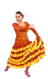 Woman flamenco dancer Royalty Free Stock Images
