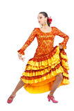 Woman flamenco dancer Royalty Free Stock Image
