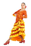 Woman flamenco dancer Royalty Free Stock Photo