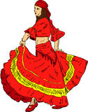 Woman  Flamenco dancer Stock Photo
