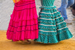Woman flamenco dress Royalty Free Stock Photography