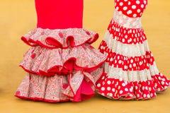 Woman flamenco dress Stock Photos