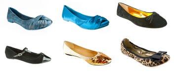Woman flat ballerina shoes Royalty Free Stock Image