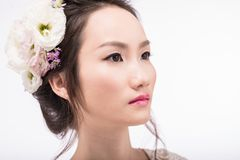 Woman with flawless porcelain skin Royalty Free Stock Images