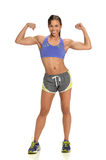 Woman Flexing Biceps Royalty Free Stock Photography
