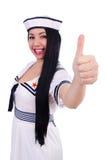 Woman flight attendant Royalty Free Stock Photo