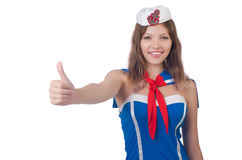 Woman flight attendant Royalty Free Stock Photos