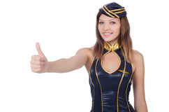 Woman flight attendant Stock Image