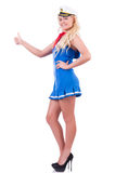 Woman flight attendant Royalty Free Stock Images