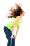 Woman flipping her hair Royalty Free Stock Image