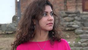 Woman Flirting With Stranger stock video