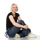 Woman on the floor Stock Photography